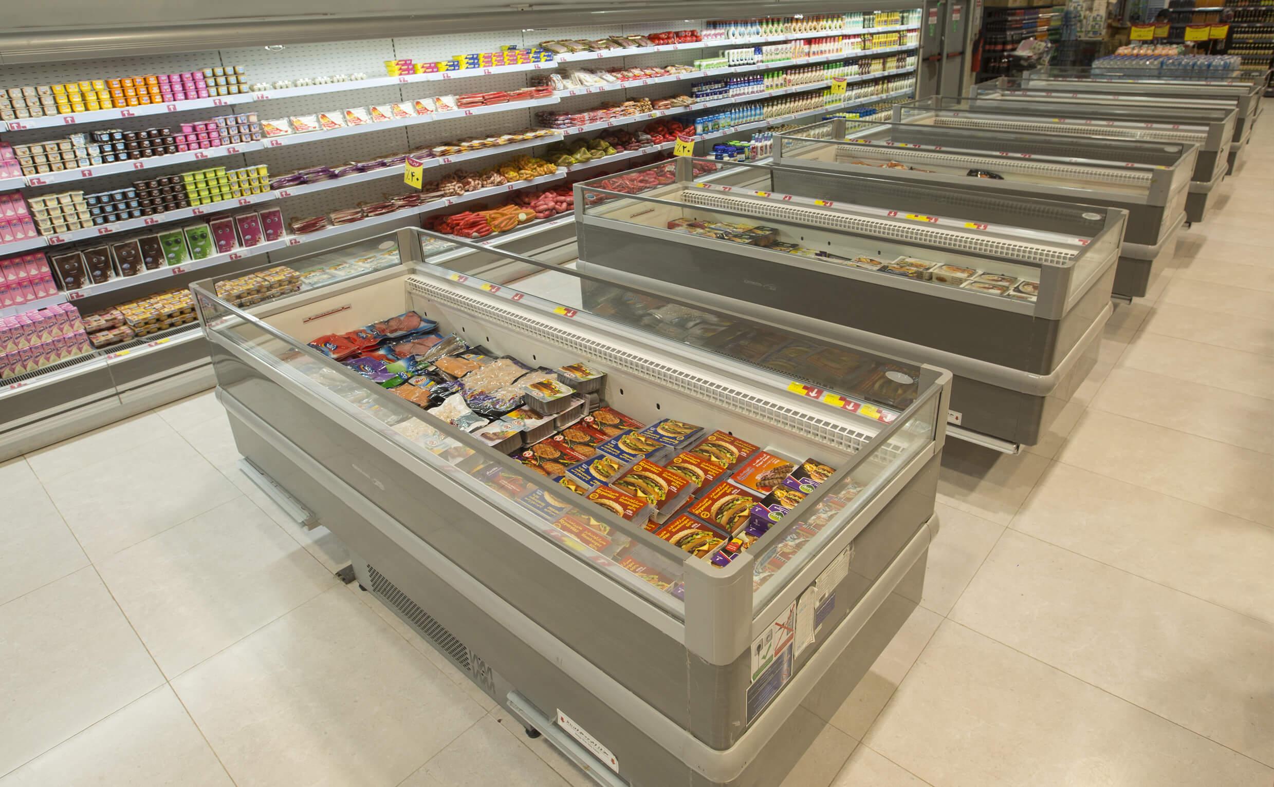 یخچال فریزر های اپن خوابیده فروشگاهی